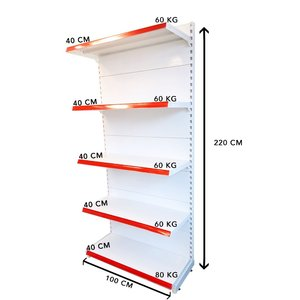 RAFTURI METAL RM 02-EC Înălțime-220, Lățime-100cm, Bază:40, Polite:40 cm