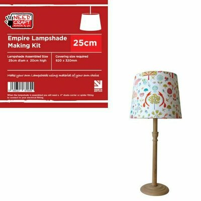 25 cm Empire Lampshade Making Kit