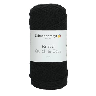 Acrylic yarn Bravo Quick & Easy - Black 08226