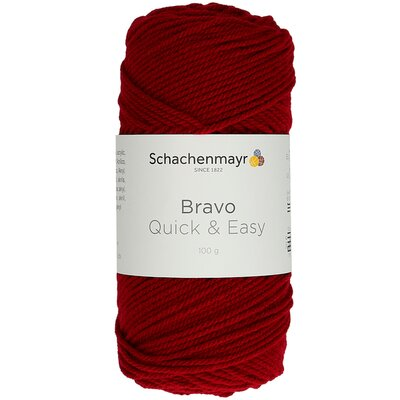Acrylic yarn Bravo Quick & Easy - Burgundy 08222