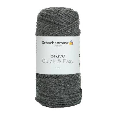 Acrylic yarn Bravo Quick & Easy - Grey Heather 08319