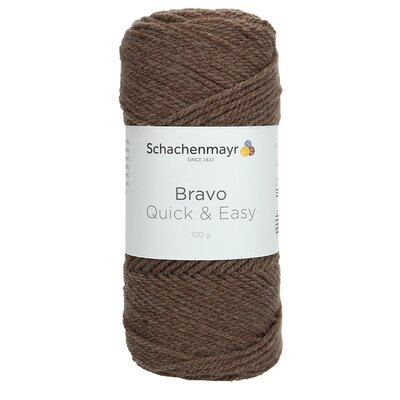 Acrylic yarn Bravo Quick & Easy - Light Brown 08197