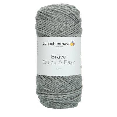 Acrylic yarn Bravo Quick & Easy - Medium Grey 08295