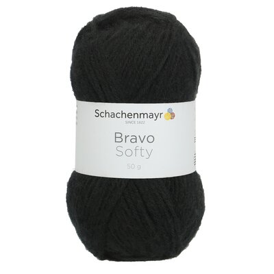 Acrylic yarn Bravo Softy - Black 08226