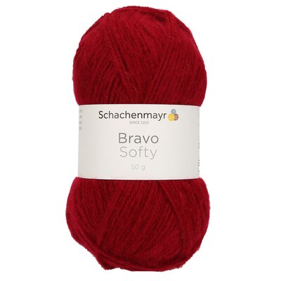 Acrylic yarn Bravo Softy - Burgundy 08222