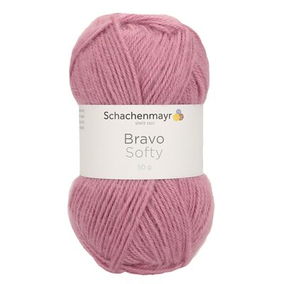Acrylic yarn Bravo Softy - Lilarosa 08343