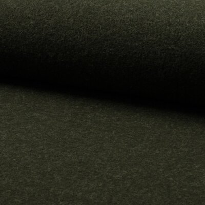 Boiled Wool Fabric - Olive