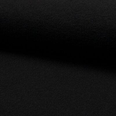 Boiled Wool Viscose Fabric - Black