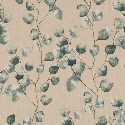 Canvas Linen Look Fabric - Eucalyptus Leaves