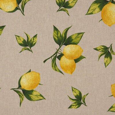 Canvas Linen Look Fabric - Lemons