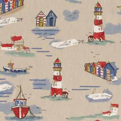 Canvas Linen Look Fabric - Sea Shore Coast