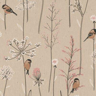 Canvas Linen Look Fabric - Soft Branch Natur