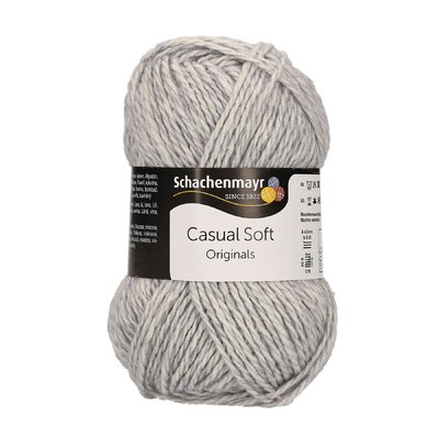 Casual Soft  Cotton and wool Yarn - Silver 00090