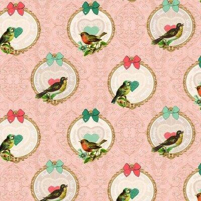 Cotton Canvas - Vintage Birds
