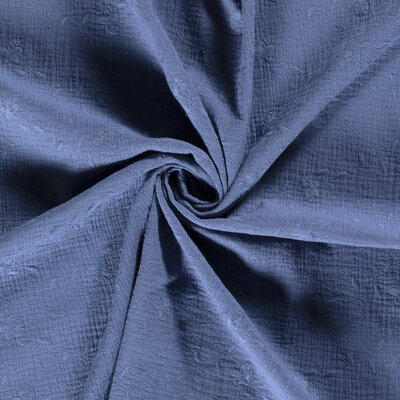 Cotton embroidery double gauze -  Floral Indigo