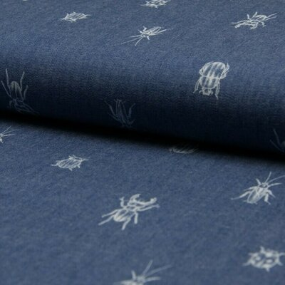 Cotton fabric - Chambray Bugs and Beetles