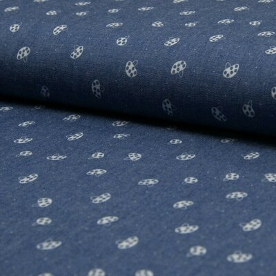 Cotton fabric - Chambray Mushrooms