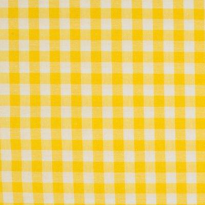 Cotton fabric - Gingham Yelow 10mm