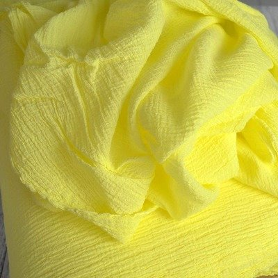 Cotton Gauze -  Anuca Lemon Yellow