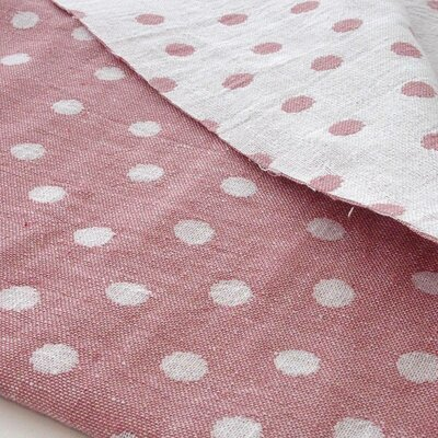Cotton Jaquard Double face - Dots Old Rose