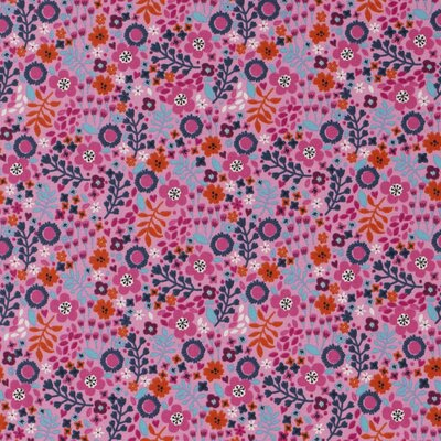 Cotton Jersey - Spring Floral Pink