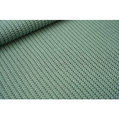 Cotton Knitted Cable - Dark Mint