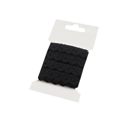 Cotton lace 15mm - 3m card Black