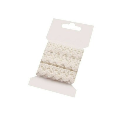 Cotton lace 15mm - 3m card Cream