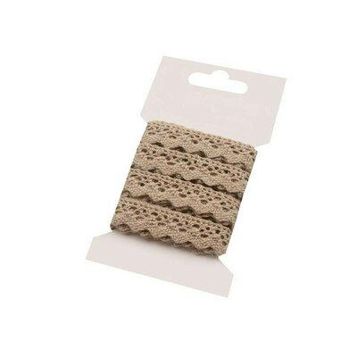 Cotton lace 15mm - 3m card Light-beige