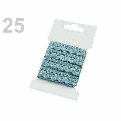 Cotton lace 15mm - 3m card light blue