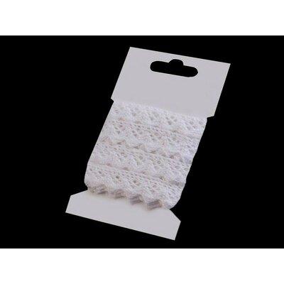 Cotton lace 15mm - 3m card White