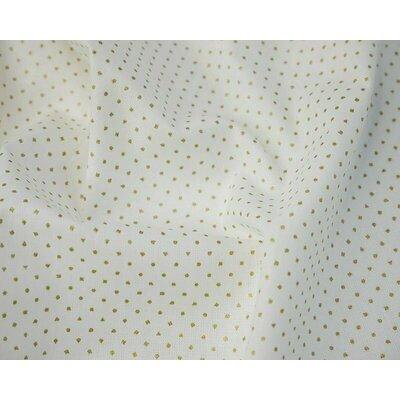 Cotton print - Metallic Pin Spot Cream