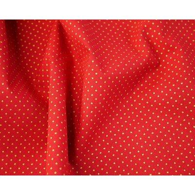 Cotton print - Metallic Pin Spot Red