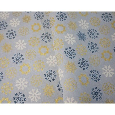 Cotton print - Multi Snowflakes Silver