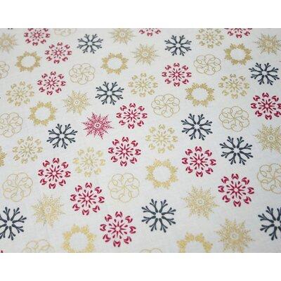 Cotton print - Multi Snowflakes Yvory