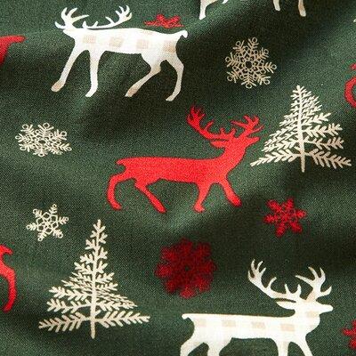 Cotton print - Reindeer Green