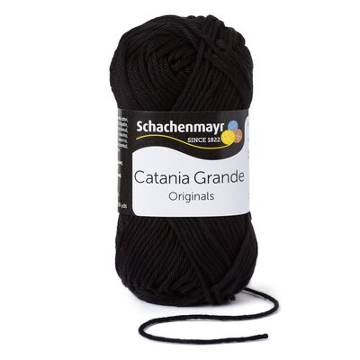 Cotton Yarn - Catania Grande Black 03110