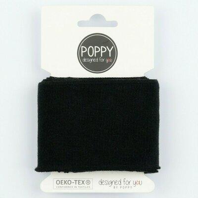 Cuff fabric 135 x 7cm - Black