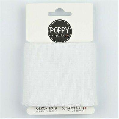 Cuff fabric 135 x 7cm - White