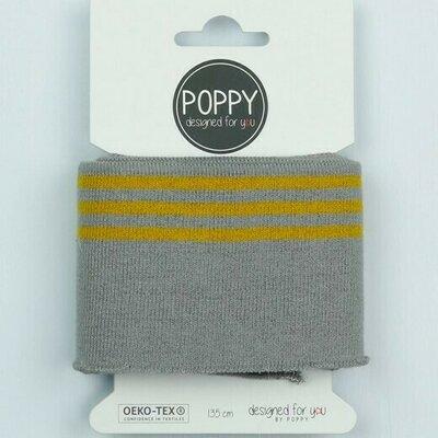 Cuff fabric - Grey-Ochre 135x7 cm