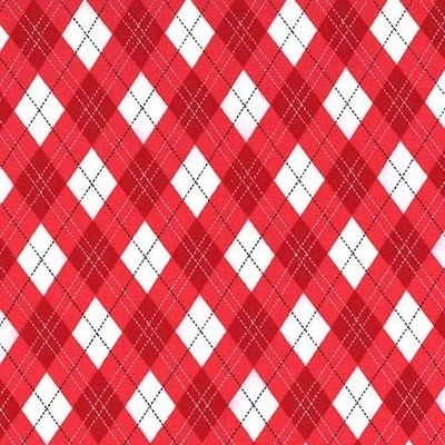 Designer fabric Michael Miller - Gift Wrap Red