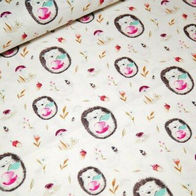Designer print fabric - Cute Hedgehog