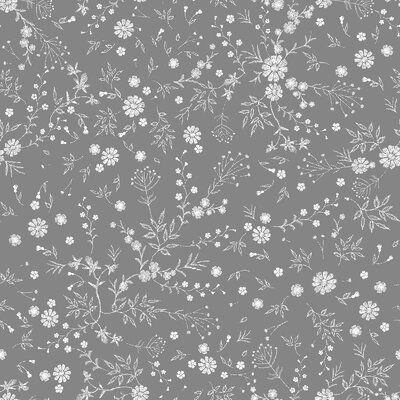 Digital print cotton -Bordaet Grey