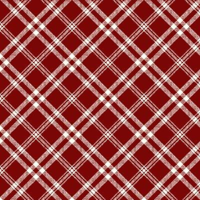 Digital print cotton - Casper Red