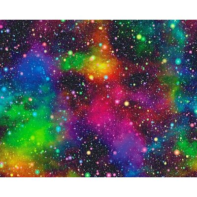 Digital Print Fabric - Galaxy Neon