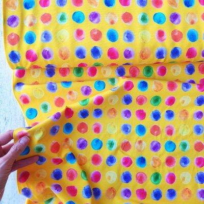 Digital Print Jersey - Graphic Dots Yellow