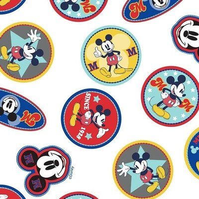 Digital printed cotton - Disney Mickey Mouse Logo
