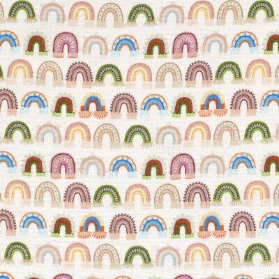 Digital Printed Double Gauze - Rainbows