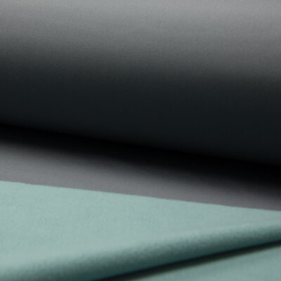 Double face Soft Shell fabric - Grey/Mint