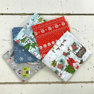 Fat Quarter Set - Happy Hollidays